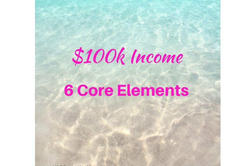 6 Core Elements of 6 figure People