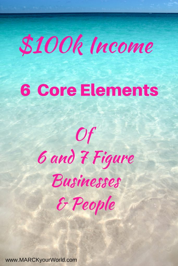 $100k Income 6 Core Elements www.MARCKyourWorld.com